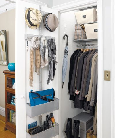 closet with clothing and storage products