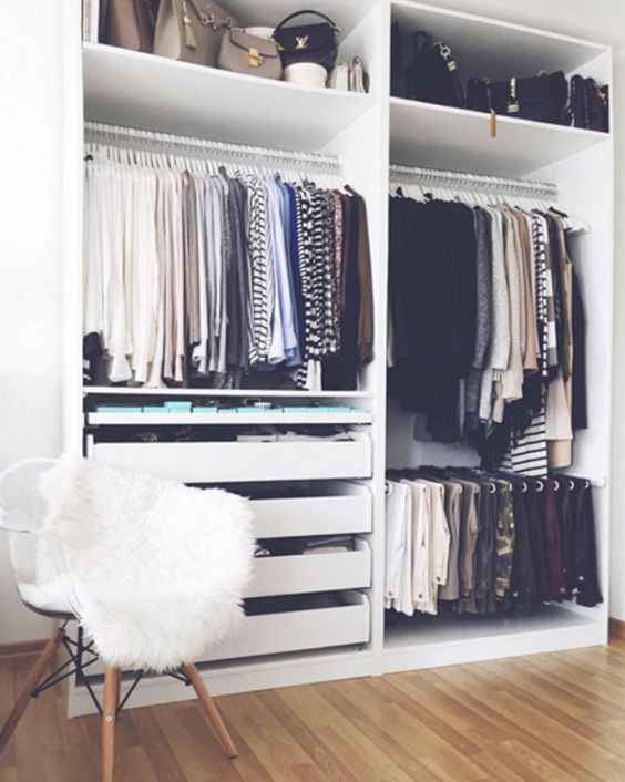 beautiful closet storage space