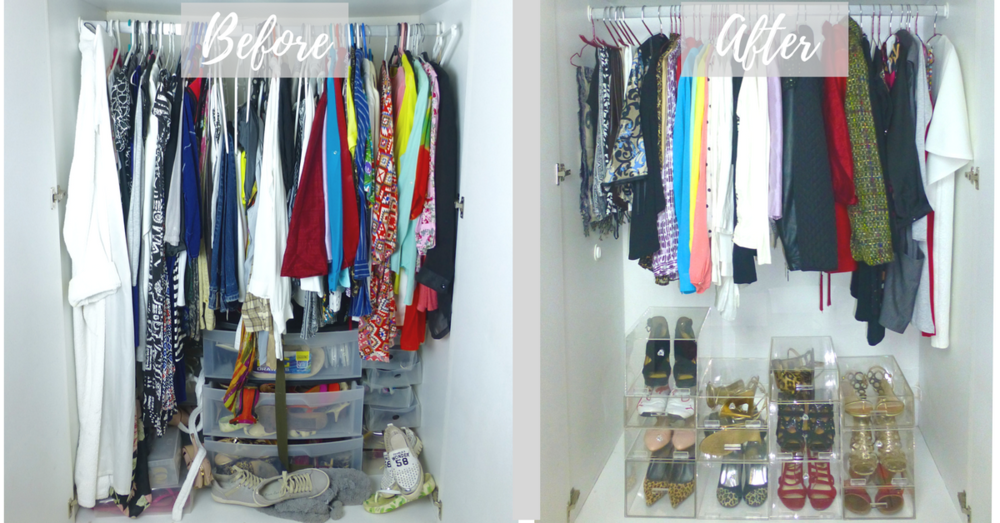before and after closet image