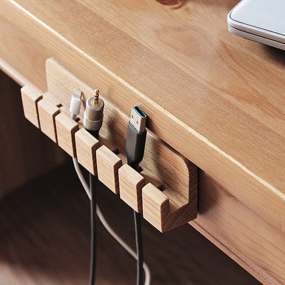 cable holder wooden