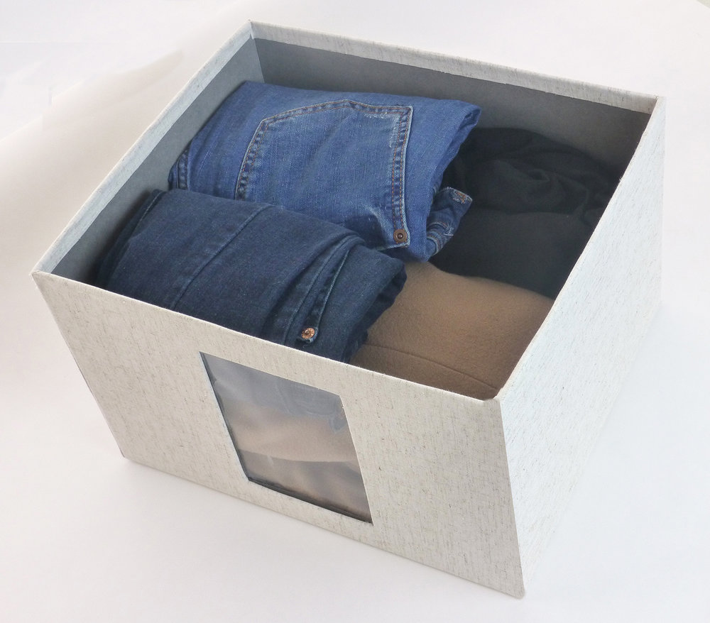 packed jeans and jersey box
