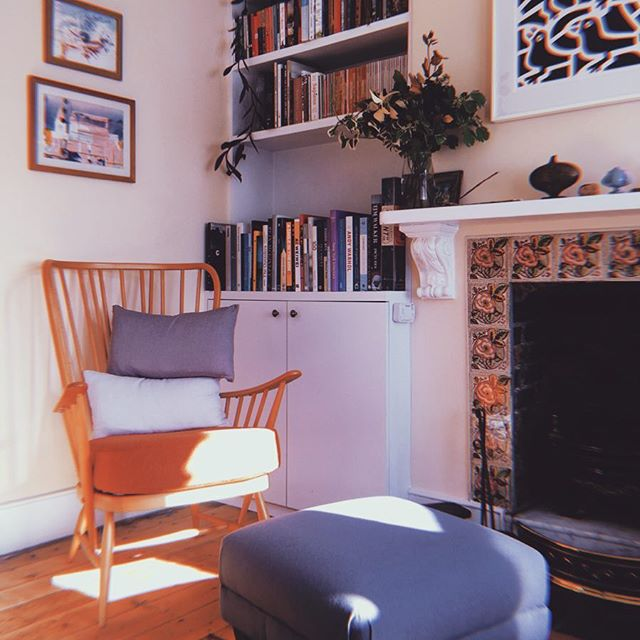 ☕️☕️☕️ 〰️ mid-morning hangouts easing myself into maternity leave in my new favourite corner of the house ~ autumnal sun is hard to beat 🔅