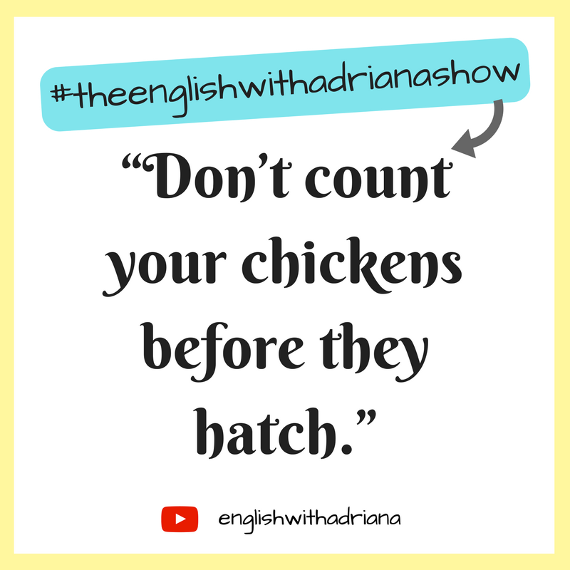 English Proverbs - Don't count your chickens before they hatch