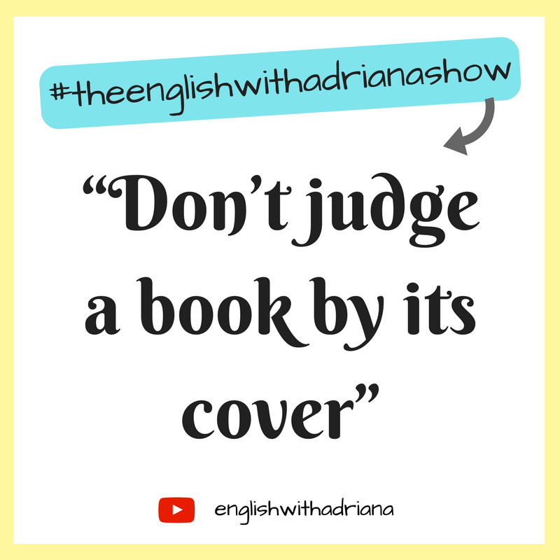 English Proverbs - Don't judge a book by its cover