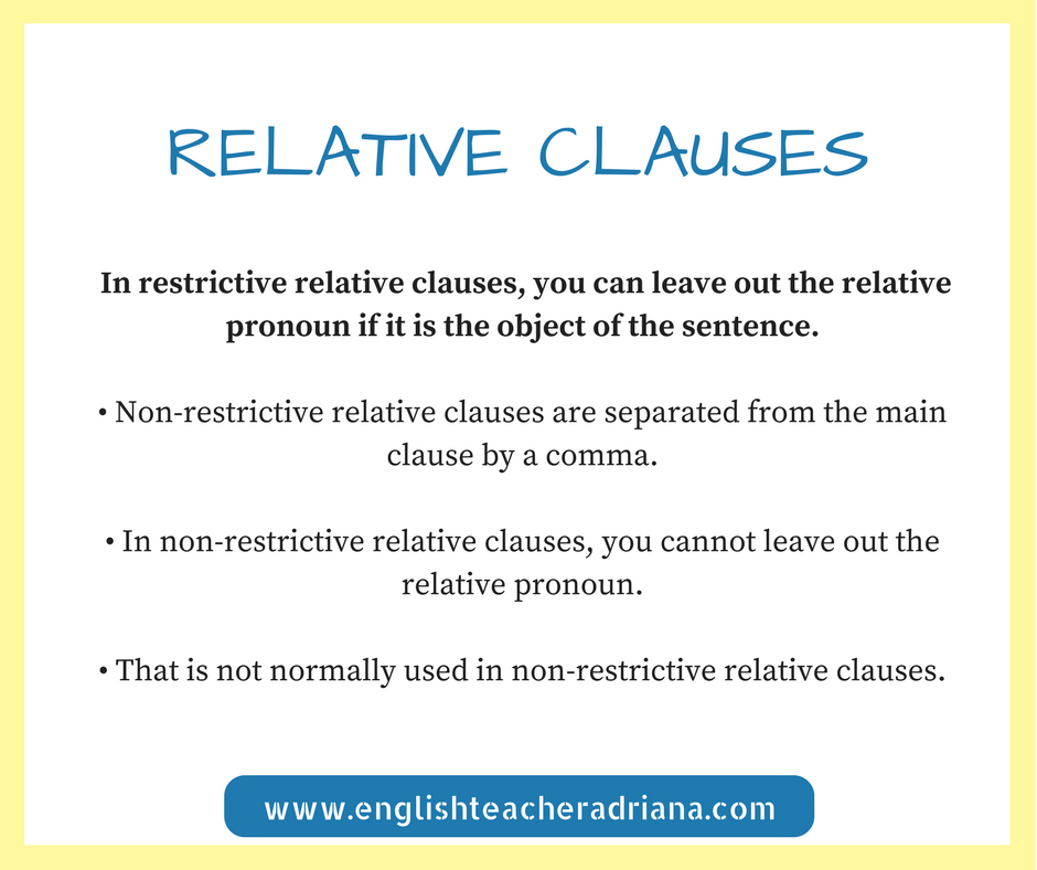 English Grammar, Relative clauses