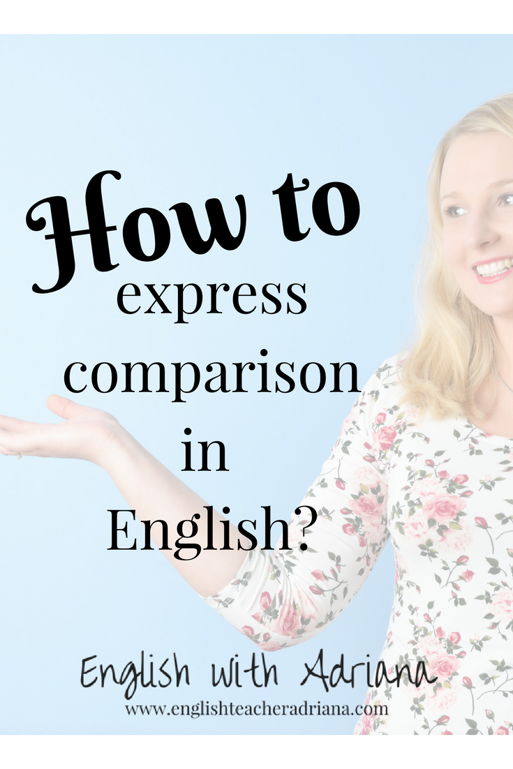 How to use patterns expressing a comparison in English