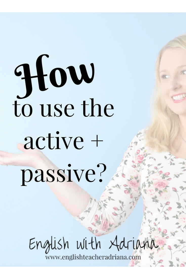how to use the active and passive