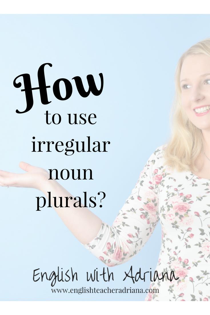 irregular nouns, plural, noun, english grammar
