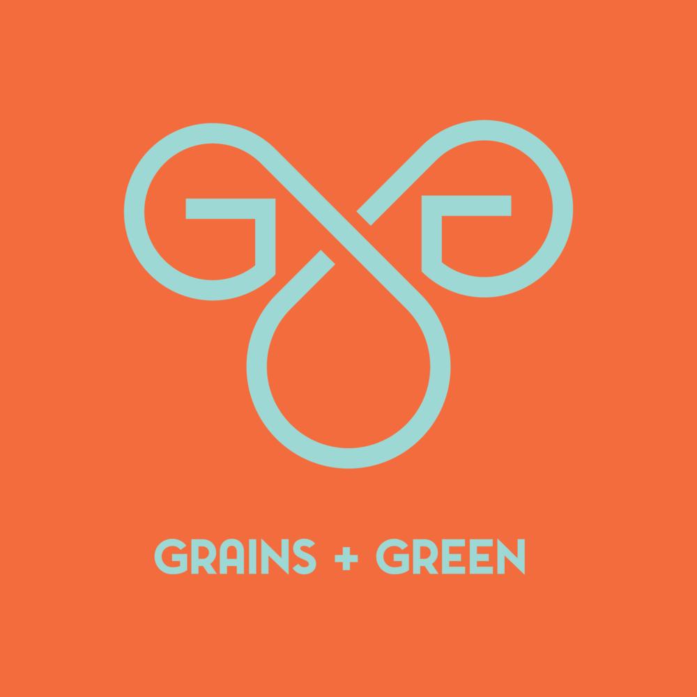 grains and green logo