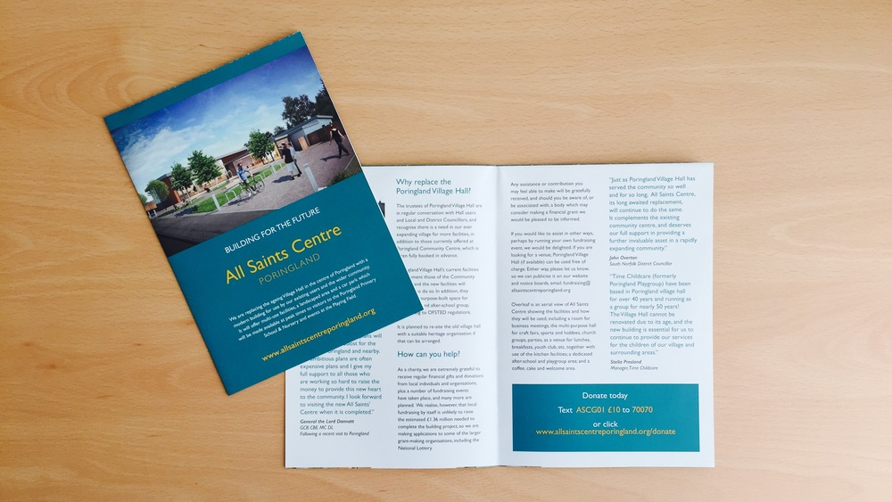 All Saints Centre Poringland Leaflet