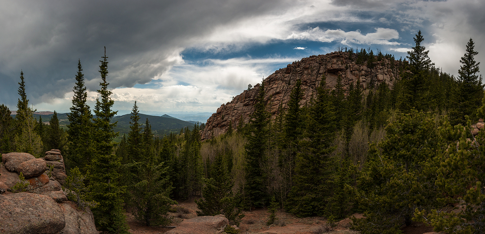 Panorama overlooking Cripple Creek, CO