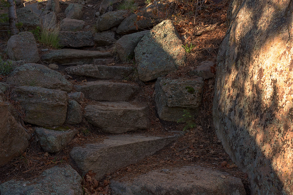 Stone staircase on the hike up Rim Rock Trail