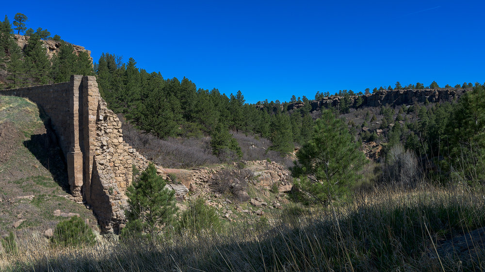 The remains of the ruined Castlewood Dam