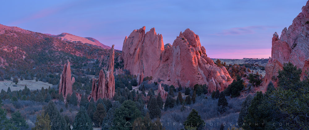 Garden of the Gods would be so much happier with snow—and so would I.