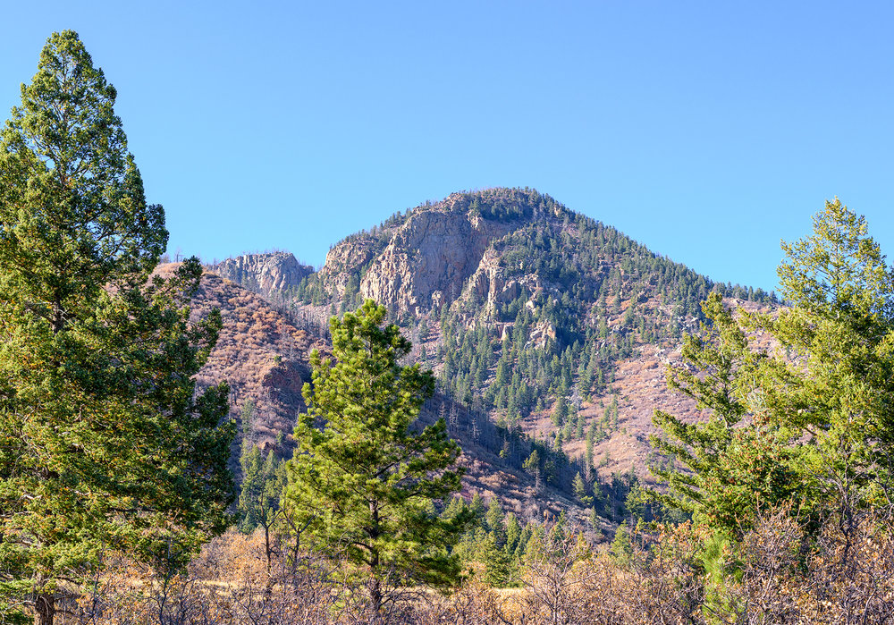 Blodgett Peak as seen from the access road