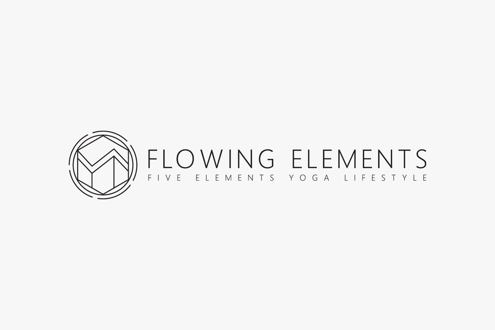 Flowing Elements Yoga Logo Design