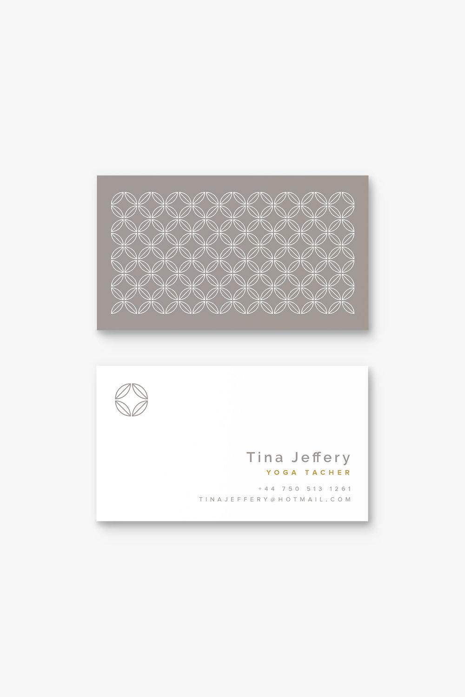 Tina Jeffery Yoga Business Card