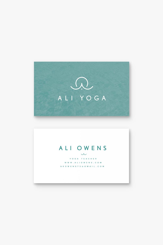 Ali Owens Yoga business card design