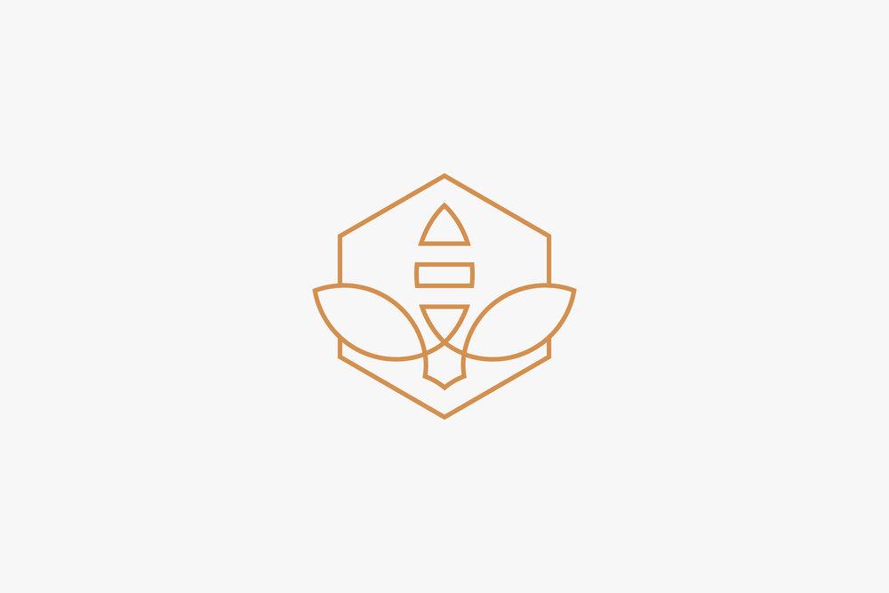 kate Swarm Yoga Logo Design