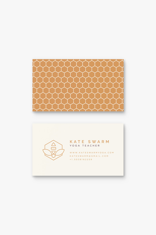 Kate Swarm Yoga Business Card Design