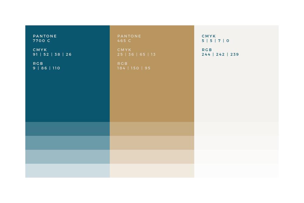 Teal Gold Colour Palette