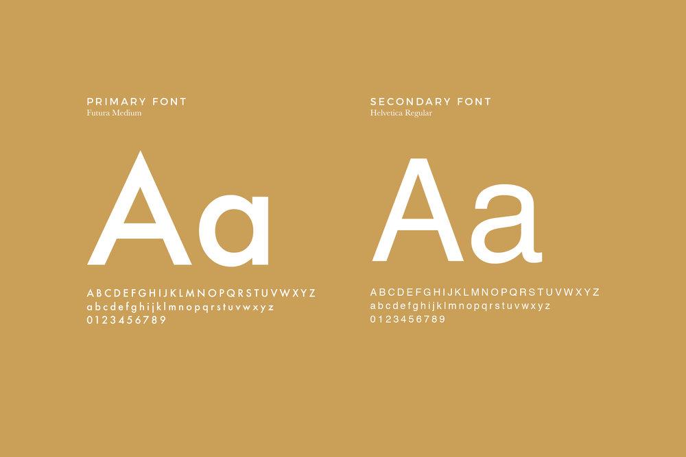Minimal Font Combination
