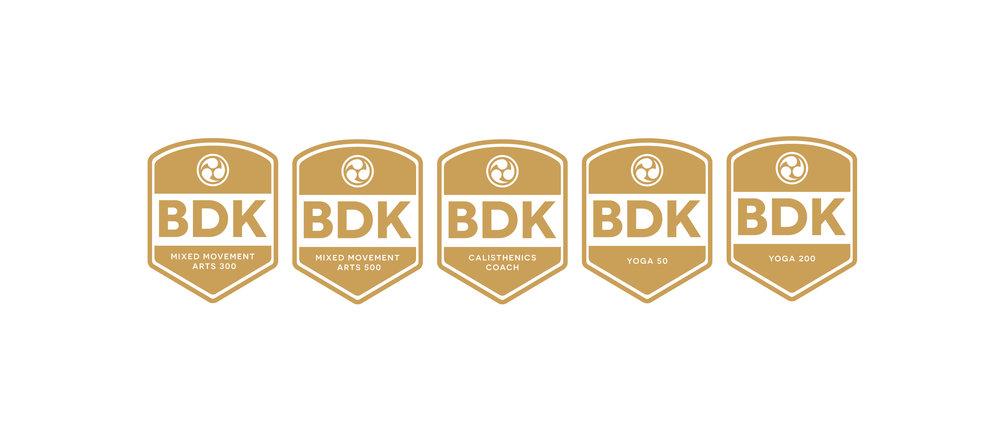 Budokon Certificate Logos