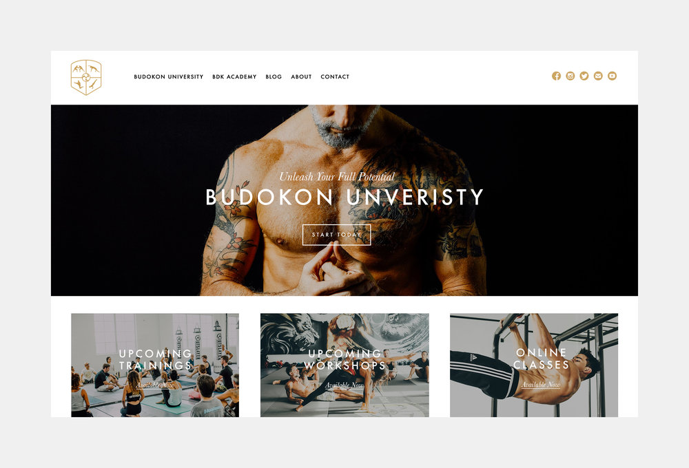 Budokon Yoga Website Design