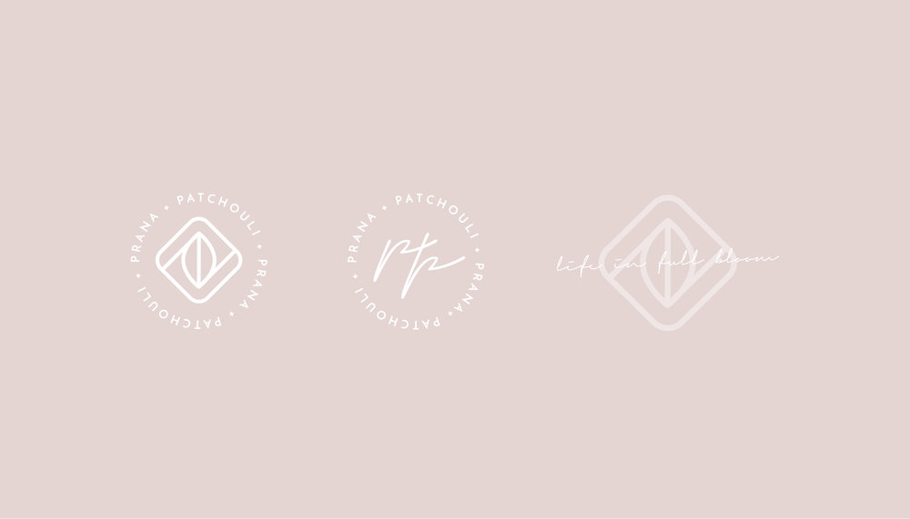 Prana & Patchouli Yoga Logo Design