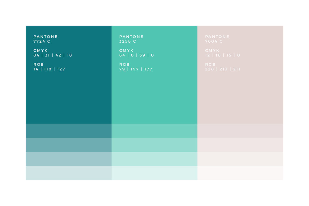 Teal Pink Colour Palette