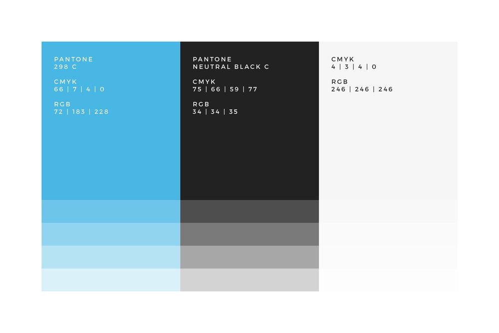 Bold Blue Colour Palette