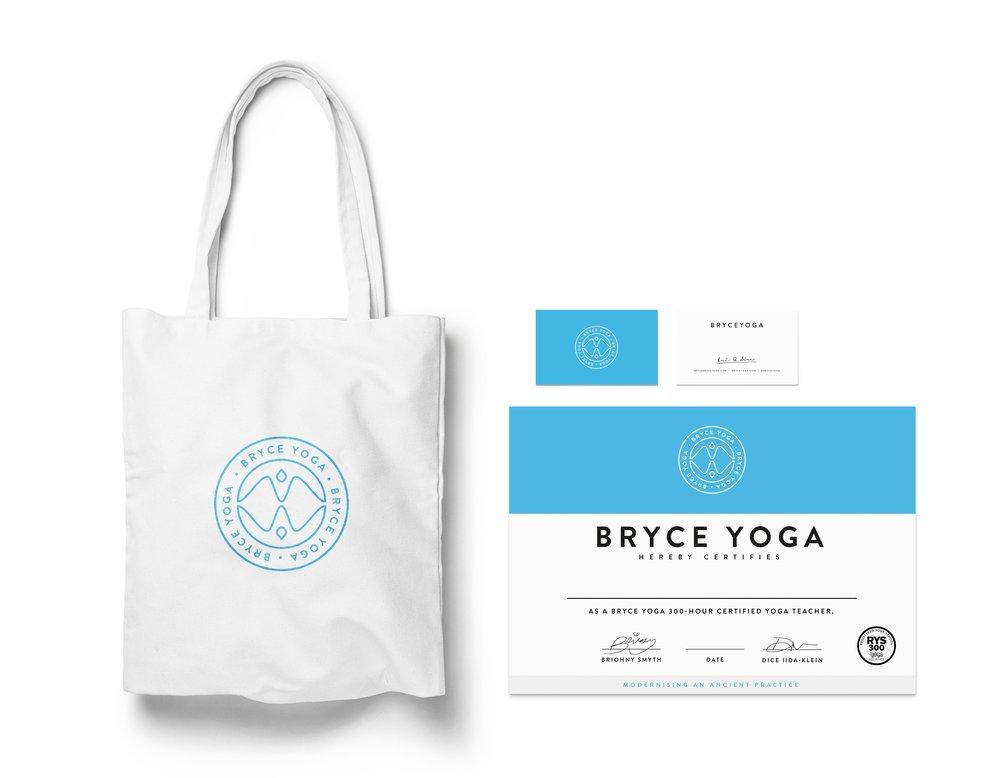 Bryce Yoga Branding Design