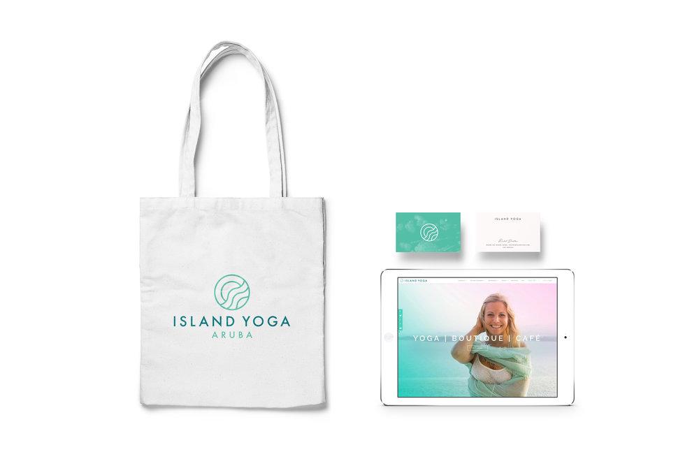 Island Yoga brand identity