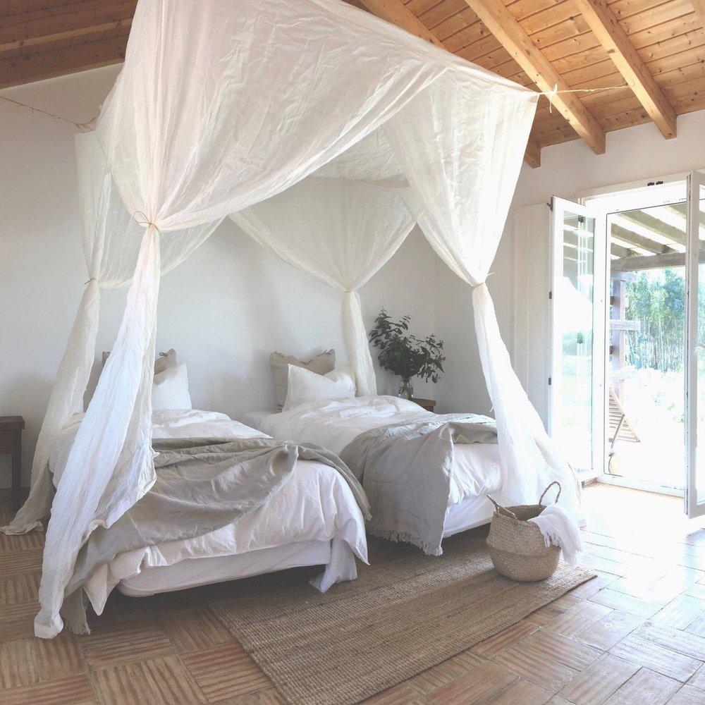 relax in style. - Cocoon Portugal is a 275 acre coastal farm + retreat, offering inspiration + community for the modern traveller. It's also pure magic, where between the oversized hammocks and the freshwater lake, you'll start to lose track of time. The kind of place where each morning is a celebration, practicing under the canopy of old growth pines, but so is each evening, with world class wine and fascinating dinner conversation.Learn more about Cocoon here