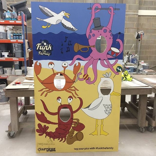 #tbt Roll on the summer….Have you booked to go to a festival yet this year?? Checkout this peep board we built for @funkthefamily Festival a couple of years ago.  #festivalprops #specialistpainters #propmakers #peepboard #festival #funkthefamily