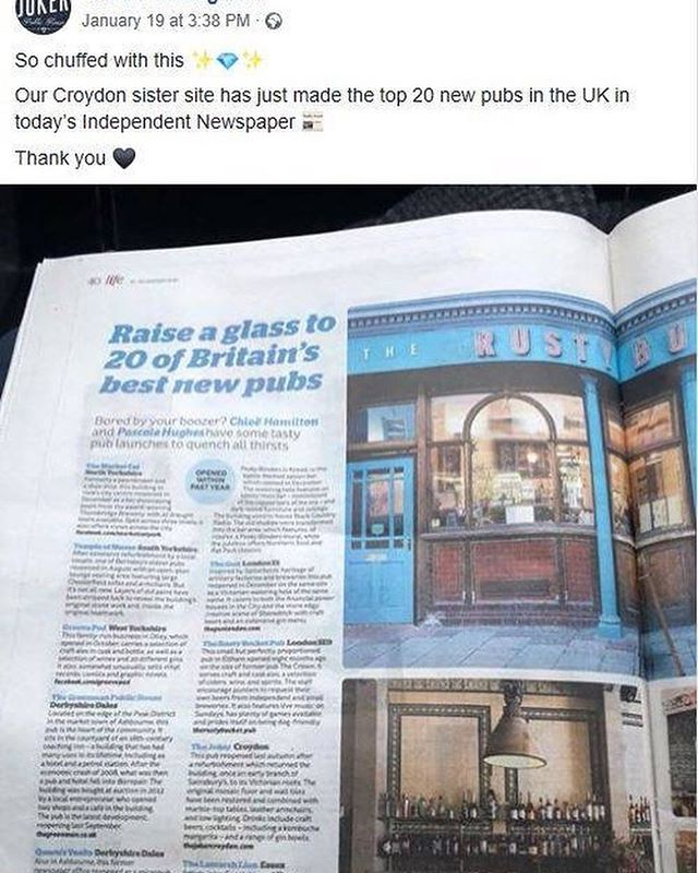 #motivationalmonday Our friends over at @the.joker.croydon have been named one of the Top 20 New Pubs in the UK by The Independent....Well done guys!  We were lucky enough to be involved with the faux brickwork and specialist paint finishes. #fauxbricks #specialistfinishes #specialistpainting