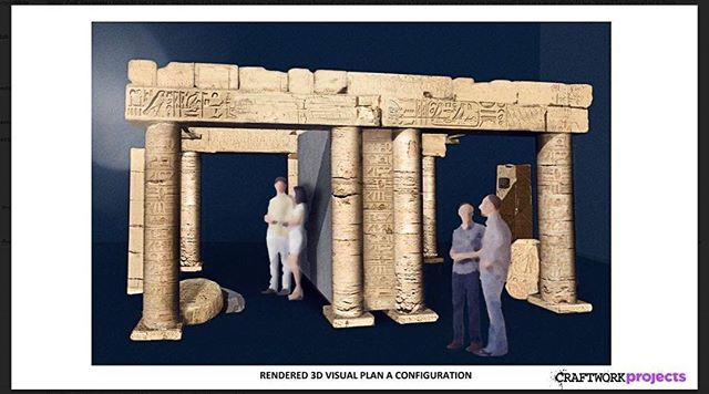 Its.....#texturetuesday….One of our #concept #designs for an Egyptian inspired portable photo concession to be used world wide as part of an ongoing exhibition #setbuilders #props #construction #scenicsolutions #photoconcession #exhibitiondesign