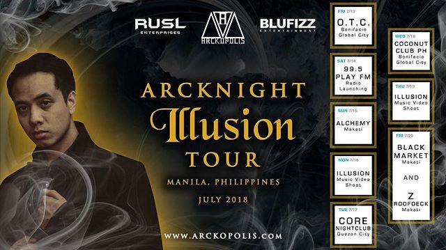 #Manila #Philippines - let's go. 👽🇵🇭 . #Arcknight #Illusion 👁 #Tour #July #2018 . . . #Artist #Artists #Producer #Producers #DJ #DJs #PioneerDJ #Urban #House #Pop #Music #Dance #Nightlife #Media #Entertainment #Events #BLUFIZZ #RUSLenterprises #Arckopolis 💎