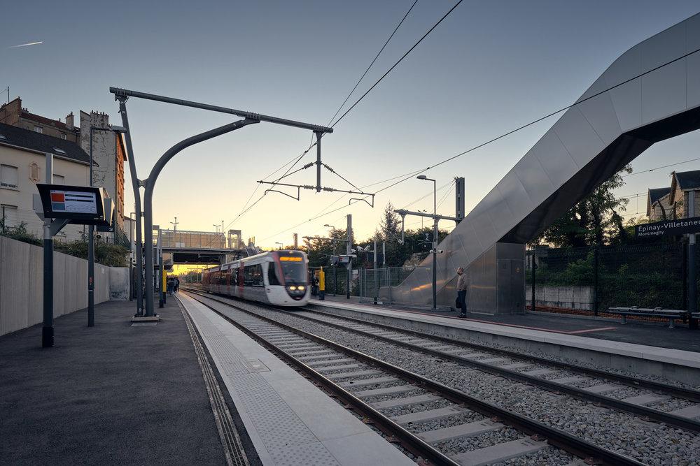 AREP SNCF Tramway gare Epinay