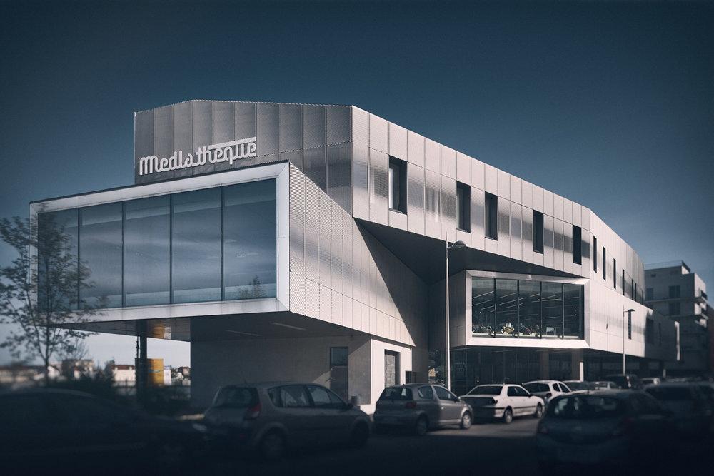 """Mediathèque """"Aragon"""" -Choisy le Roi - Brenac & Gonzalez architectes"""
