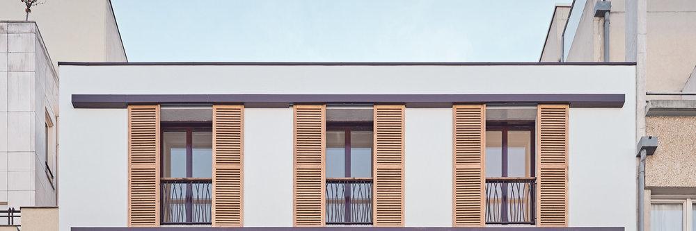 Réhabilitation immeuble de logements rue Cauchy à Paris par Philippe Blac'h architectes, Bouygues Bâtiment IDF et RIVP