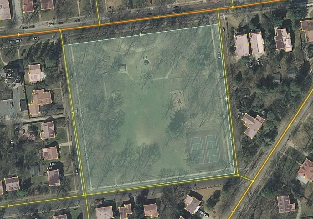Editing the park polygon