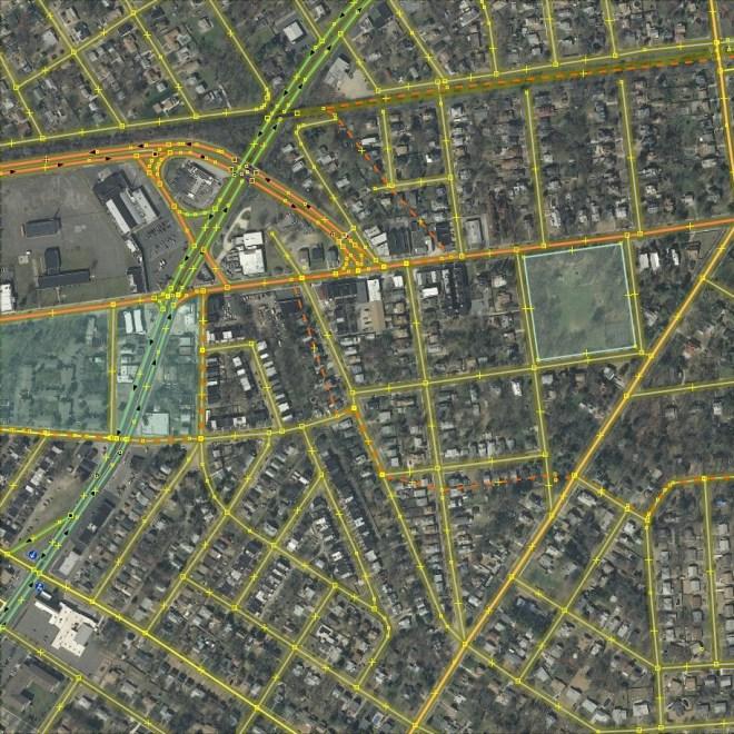 Camden neighborhood as it originally appeared in Openstreetmap.