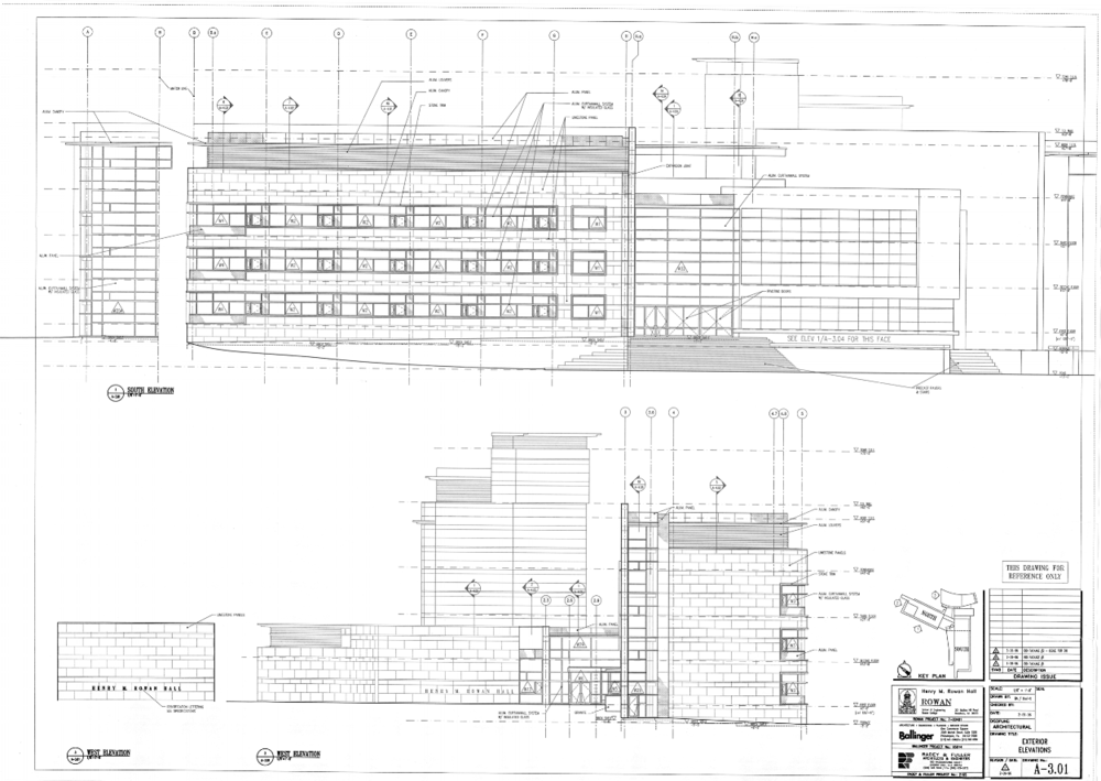 Some of the building plans used as a reference for creating the model.