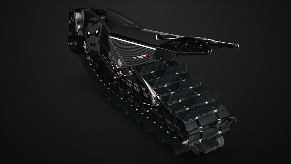 CAMSO SNOW BIKE TRACK - Lightweight 129-inch track, 12.5 inches wide and deep 2.5 inch lugs.