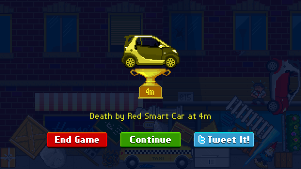 Death by car. So that's a thing.