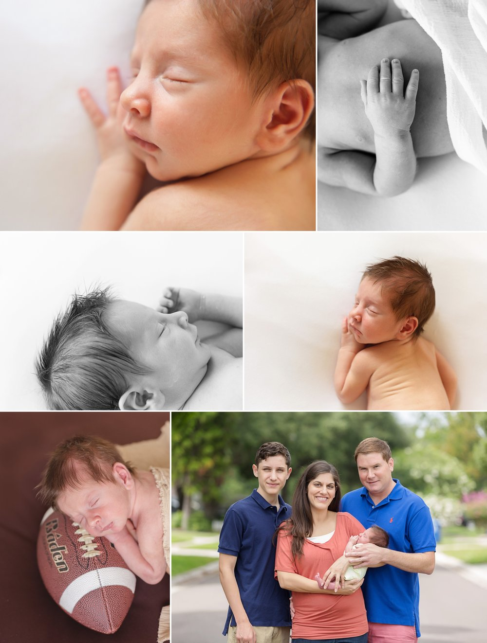 Jackson's Newborn Collage