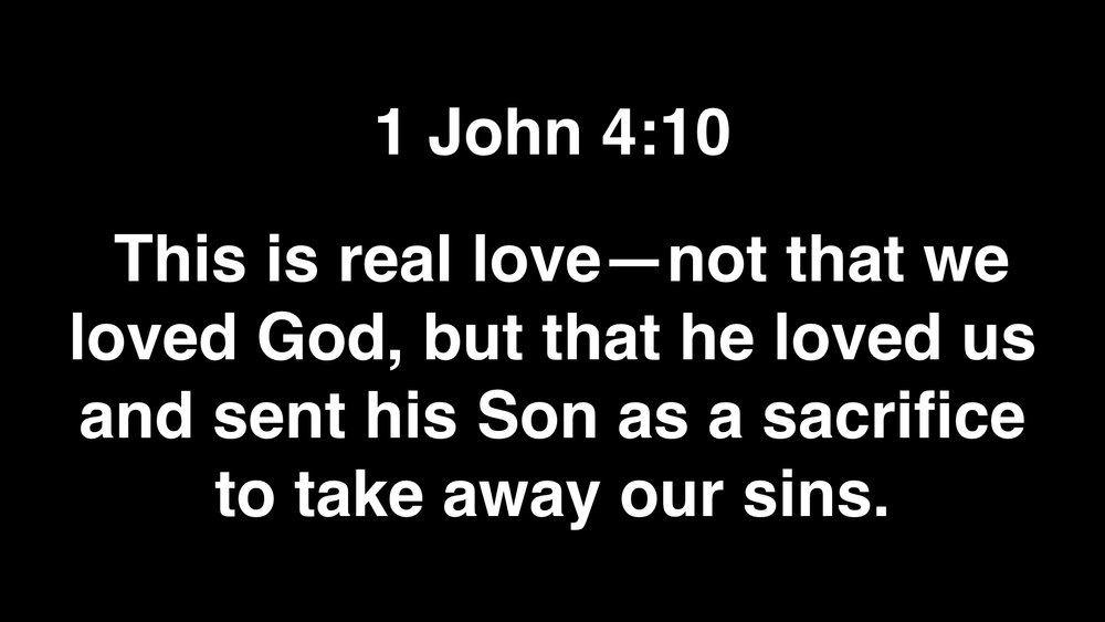 And do the same with this one. Though we deserve to die because of our sin, Jesus died on the cross for our sin. He died in our place so we could receive God's forgiveness and love.