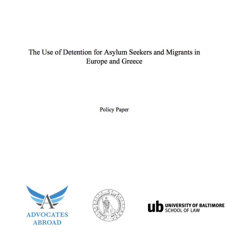 Detention Policies in Europe   This report on detention practices was produced jointly by the Greek Field Teams and the UBL Externship Program.