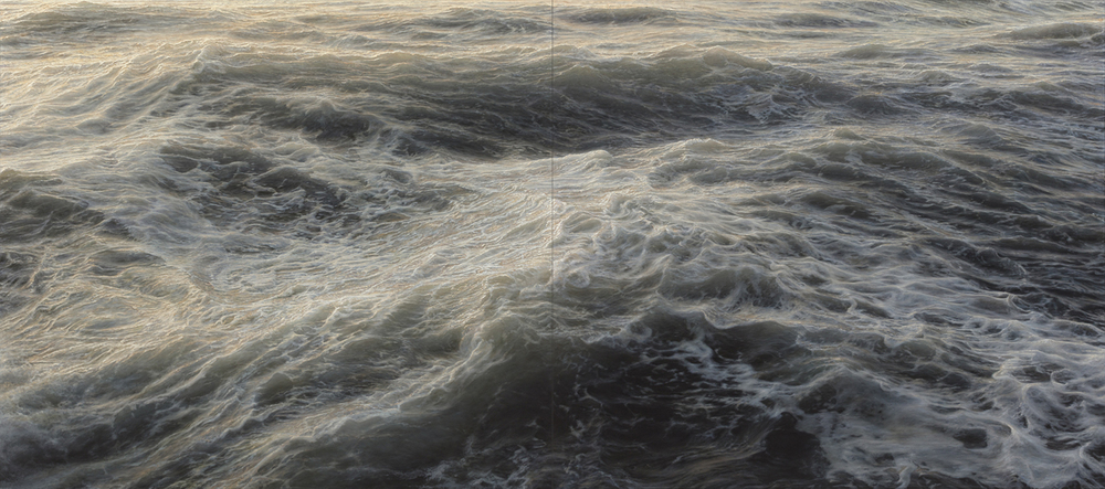 "Element No. 5, oil on canvas, diptych, 80"" x 180"", 2012"